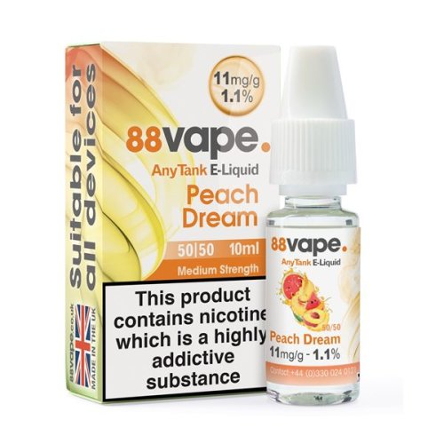 Kik E-Liquid 88Vape 11mg Peach Dream box of 20 liquids