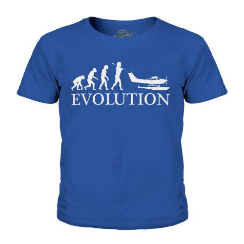 Candymix - Seaplane Evolution Of Man - Unisex Kid's T-Shirt
