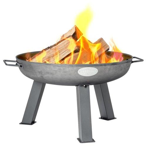Garden Fire Pit Cast Iron Outdoor Brazier Style Flame Basket Patio Heater 55.5cm
