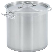 vidaXL Stock Pot with Lid 25L 32x32cm Stainless Steel Catering Soup Stew Pot