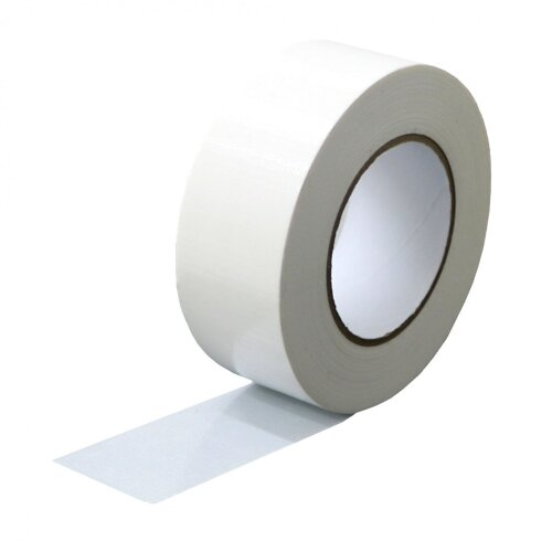 Oypla Stick Man White Cloth Tape 50mm x 50mtr - Case 24 Rolls