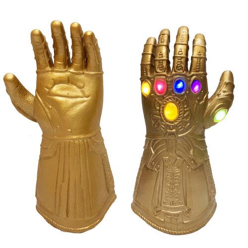 Kids Thanos Gloves Gauntlet Infinity Led Light Left Hand