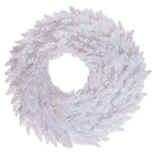 Vickerman K160324 White Fir Wreath, 24 in.