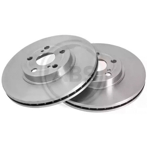 Front Pair (2x) of Brake Disc A.B.S. 17511