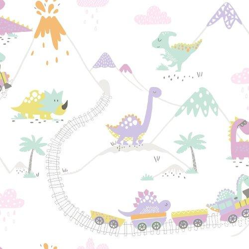 Holden Dino Town Dinosaur Pattern Childrens Wallpaper