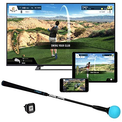 Phigolf Mobile and Home Smart Golf Game Simulator with Swing Stick WGT Edition 2019