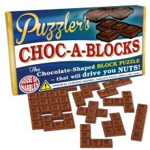 PUZZLER'S CHOC-A-BLOCK - CHOCOLATE SHAPED PENTOMINOES PUZZLE - NEW