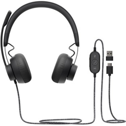 Logitech Zone Wired Over-The-Head Stereo Headset Circumaural 32 Ohm 20 Hz T 981-000870