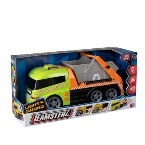 Teamsterz 1416394 Light and Sound Skip Lorry Toy, 3-6 Years