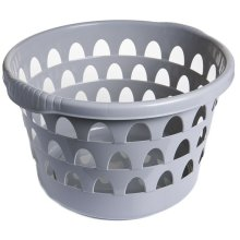 Round Laundry Basket Washing Basket Laundry Hamper With Textured Handles (Putty)