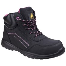 Amblers Safety: Womens Black AS601 Lydia Composite Safety Boot With Side Zip 9