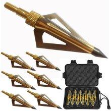 12Pcs 125Grain 3Blade Broadheads Hunting Arrow Heads Bow Archery Fishing Outdoor