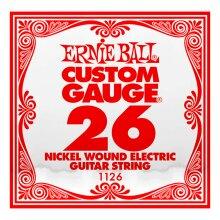 Electric Guitar Single String Ernie Ball Custom Gauge 26 1126 Nickel Wound Ball End .026