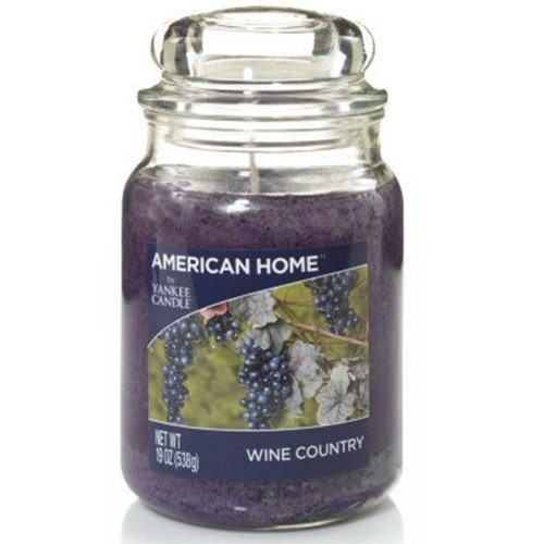 (Wine Country) Yankee Candle 'American Home' ScentedLarge Jar Candle- 538g
