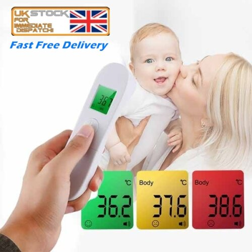 Infrared Forehead Digital Thermometer Gun for Baby and Adults, No Touch Instant Results