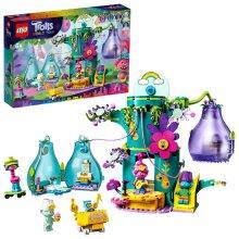 LEGO 41255 Trolls World Tour Pop Village Celebration Treehouse Building Set with 2 Pods, Portable Travel Toys