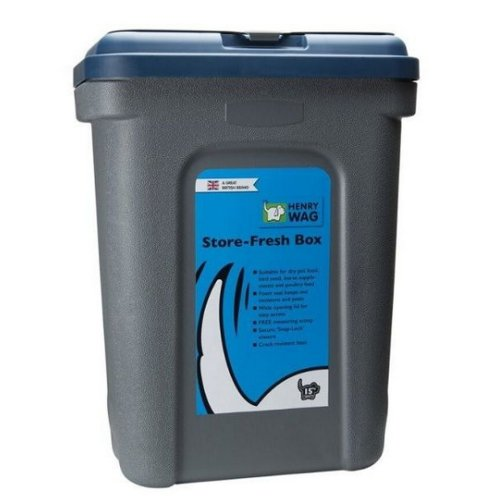(42 x 25 x 33cm, Blue/Grey) Henry Wag Store Fresh Food Plastic Box