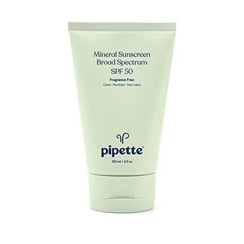 Pipette SPF 50 Mineral Sunscreen Broad Spectrum with Non-nano Zinc Oxide (4-Fluid-Ounce)