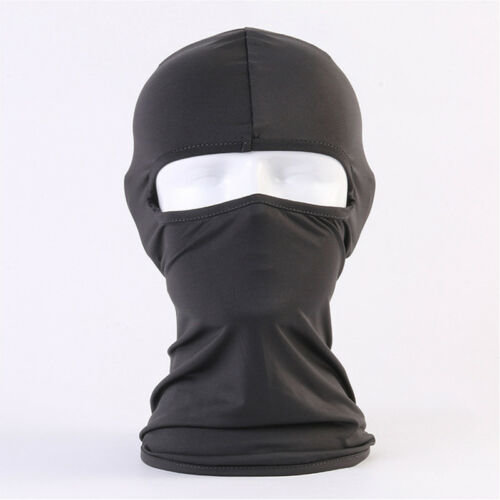 (Black) Breathable Motorcycle Cycling Fishing Balaclava Lycra Face Mask