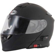 VCAN V271 Matt Black Bluetooth Flip Front Helmet