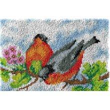 Two Birds Rug Latch Hooking Kit (64x48cm blank canvas)
