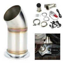 "2.25"" Electric Exhaust Catback Downpipe Cutout E-CUT Out Motor Kit"