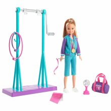 Doll Team Stacie Doll & Gymnastics Playset Hold For Active Role-Play Fun