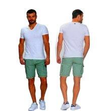 Mens Cargo Shorts pants Chino Trouser Six pockets