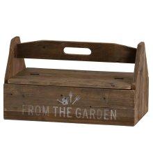 Rustic Wood Garden Tool Box