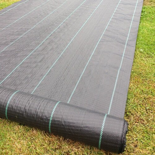 FREE PEGS + 1m x 50m 100g Weed Control Ground Cover Membrane Landscape Fabric