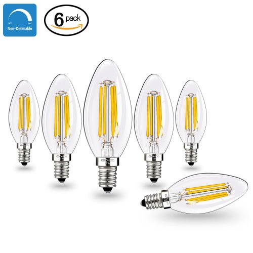 10x Osram 6W E14 LED Candle Frosted Dimmable Light Bulb Very Warm White 2700K