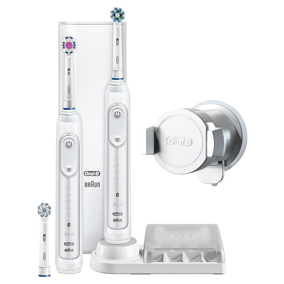 2 x Braun Oral B Genius 8900 Electric Rechargeable Power Toothbrush, Bundle Pack