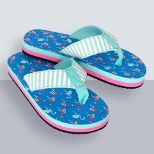 Hatley Girl's Sandals Flip Flops, Blue, 6 (23 EU)
