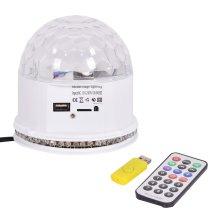 MP3 48 LED Crystal Magic Ball, 10w Stage Lighting