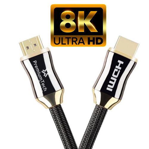 (2m) PremiumTech HDMI 2.1 Cable 48Gbps * Supports up to 10K, 120Hz, HDR 10, Dolby Vision & Atmos