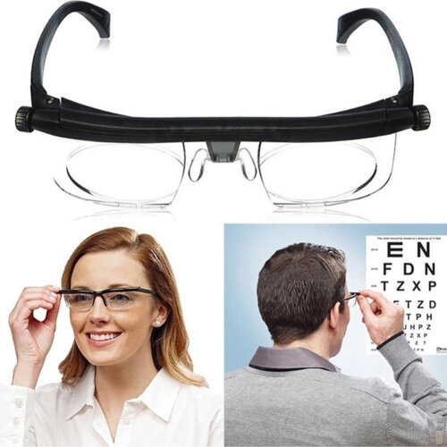Dial Adjustable Glasses Variable Focus For Reading Distance