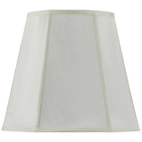 SH-8107-18-EG 18 in. Vertical Piped Deep Empire Shade, Egg Shell