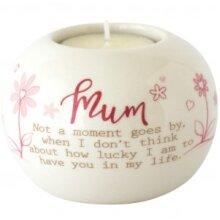 Said with Sentiment Ceramic Tea Light Holder - Mum