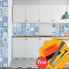 English Family Kitchen  Quote Mosaic Tile Stickers 48pcs 15cm x 15cm