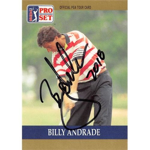 Autograph Warehouse 527888 Billy Andrade Autographed Trading Card - Golf, PGA Tour & Wake Forest, SC 1990 Pro Set No.71