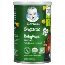 Gerber, Organic Baby Pops, Tomato, Crawler, 8+ Months, 35g