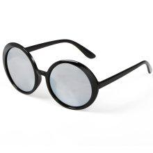 TRIXES Stylish Women's Round Sunglasses Silver Mirrored Lenses