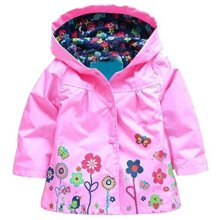 Arshiner girl Baby Kid Waterproof Hooded coat Jacket Outwear Raincoat Hoodies 29 Y,Pink,90(Age for 12Y)