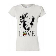 Bob Marley One Love T Shirt Jamaican Reggae Tee Trendy Women T Shirt