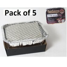 Pack of 5 Small Disposable BBQ 21cm x 18cm Instant Light Barbecues