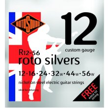 Rotosound Roto Silvers 12-56 Electric Guitar Strings R 12-56