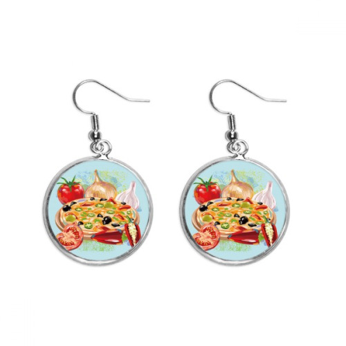 Painting Japanese Culture Autumn Ear Dangle Silver Drop Earring Jewelry Woman