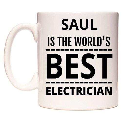 SAUL Is The World's BEST Electrician Mug