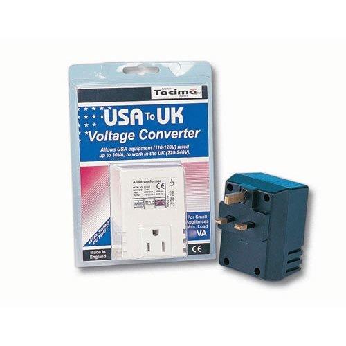 Tacima 240/120V Stepdown Transformer USA to UK 50VA (SC5474)