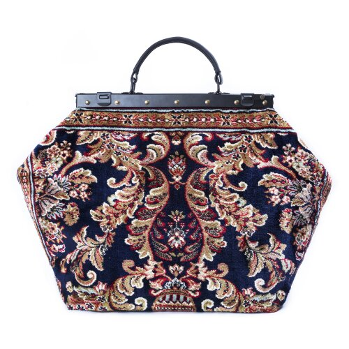 SAC-VOYAGE Blossom Navy - large Mary Poppins Victorian CARPET BAG